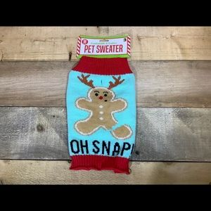 Christmas Pet Sweater (M) Reindeer Gingerbread